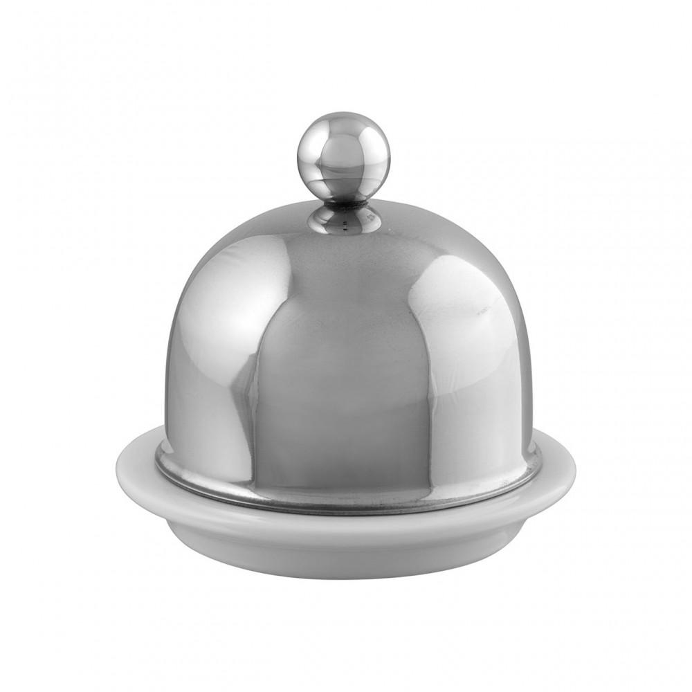 Beurrier porcelaine tout Inox SERVICE EN SALLE