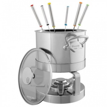Service à fondue Inox monture Fonte Inox SERVICE EN SALLE