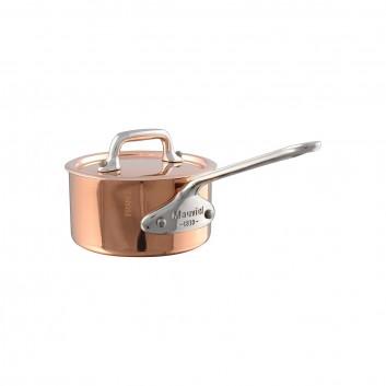 Casserolette avec avec couvercle Cuivre monture Fonte Inox M'MINIS