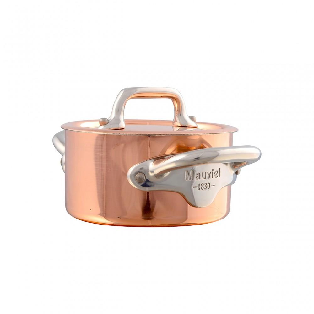 Cocotte avec avec couvercle Cuivre monture Fonte Inox M'MINIS