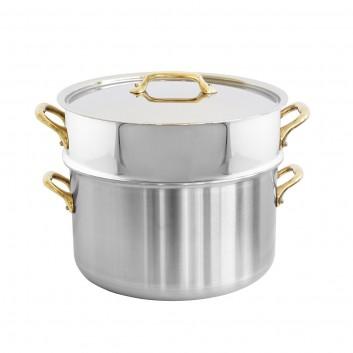 Cocotte avec couvercle et cuit-vapeur inox M'URBAN 3 B 24cm