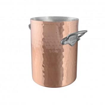 Seau à vin Cuivre martelé monture Fonte Inox M'30